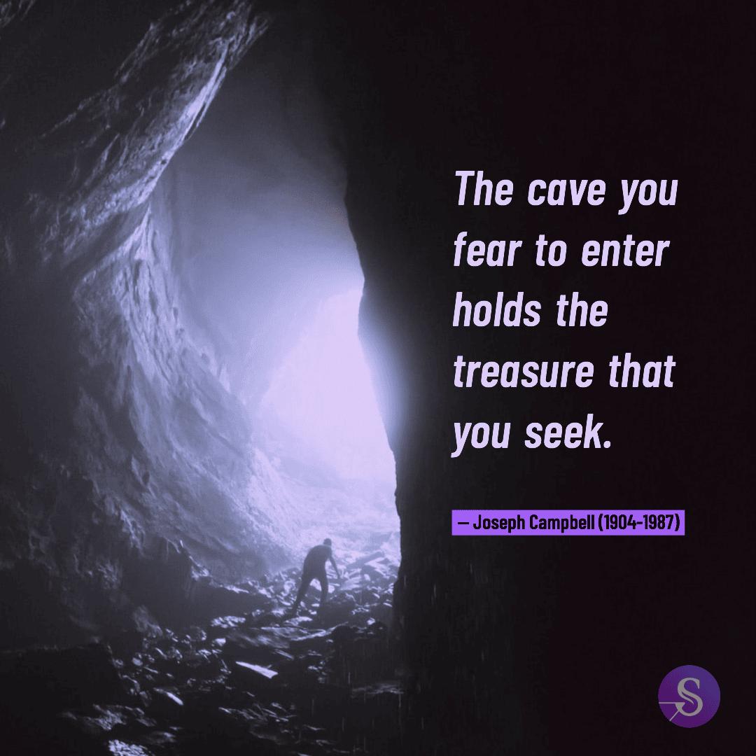 Zitat von Joseph Campbell zum Thema Angst