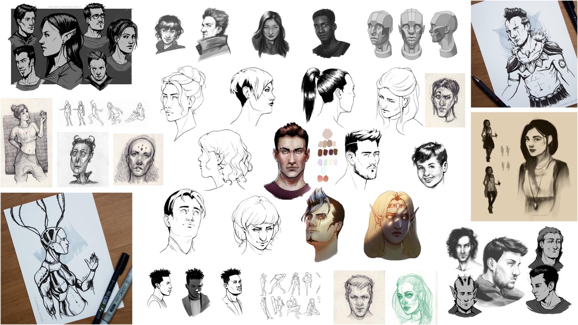 1000-Character-Portraits Projekt Ausschnitt