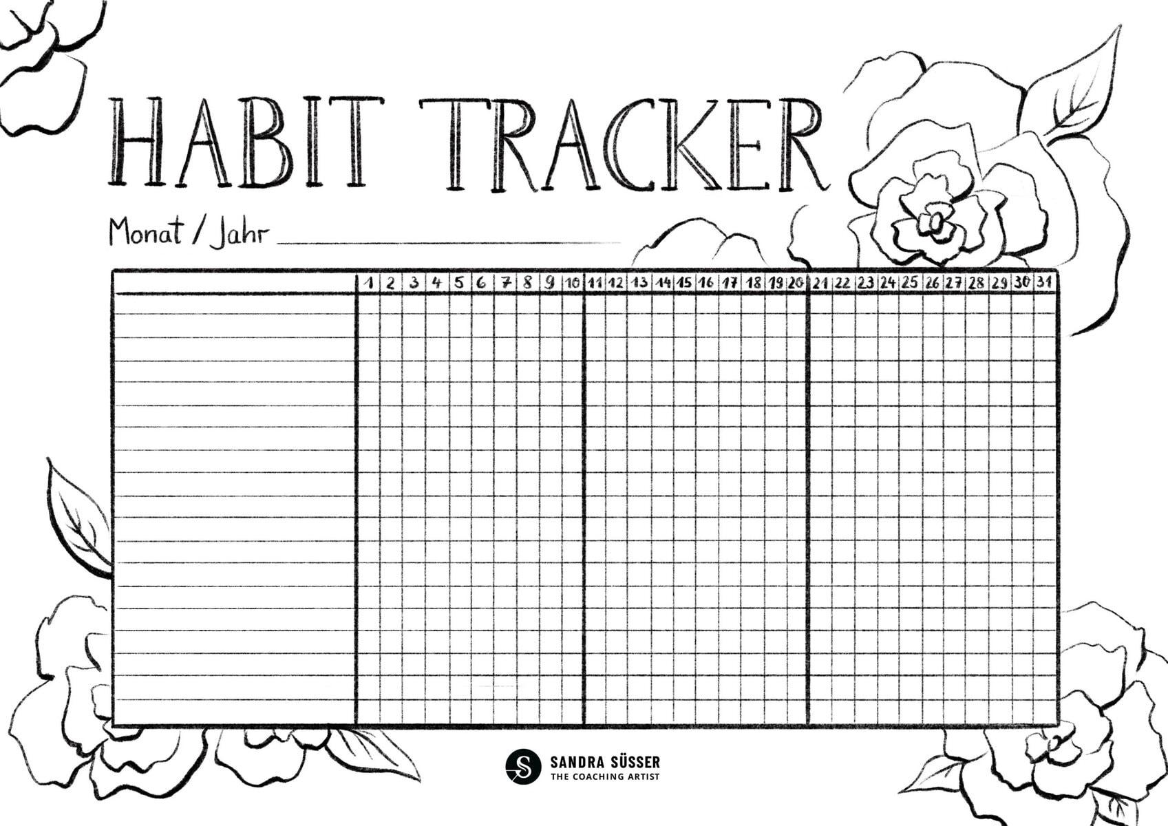 Habit Tracker Vorlage 2