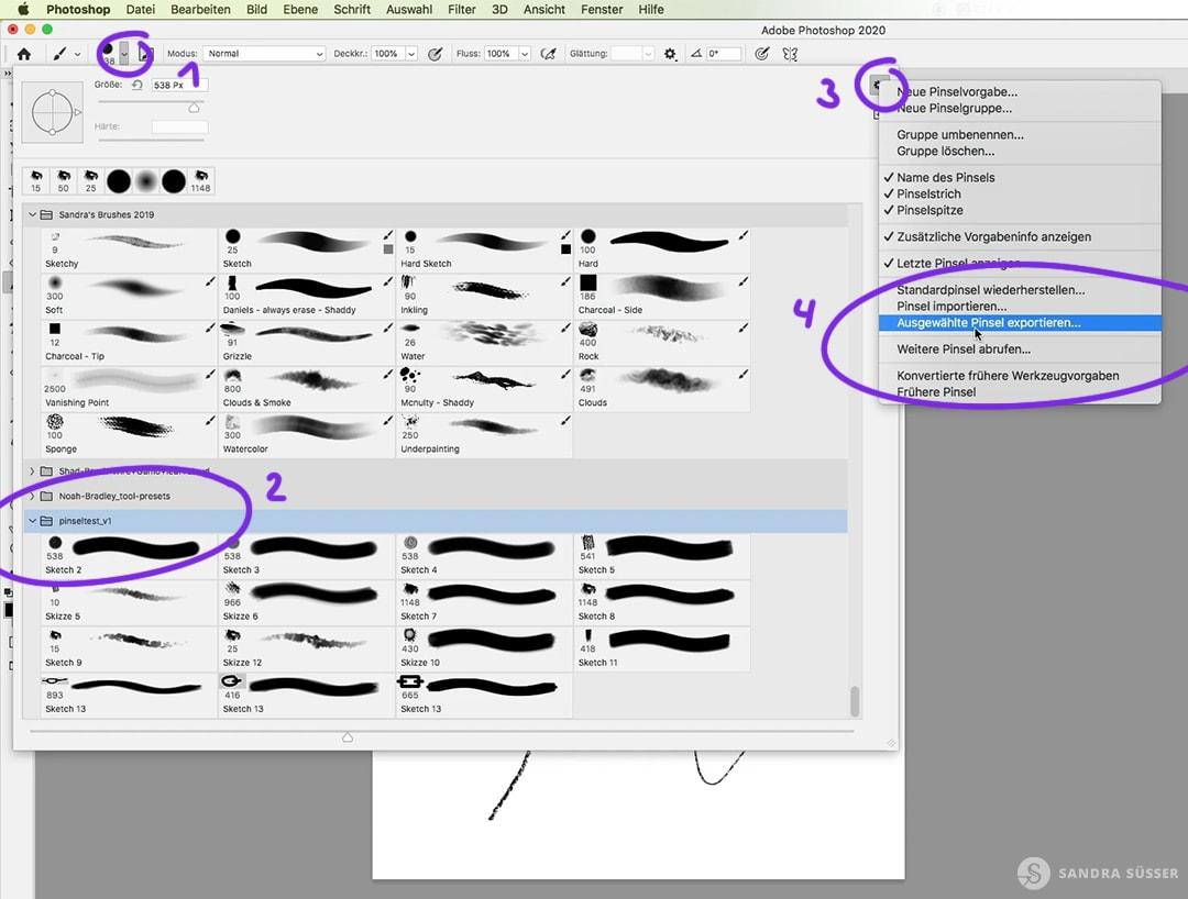 Photoshop Pinsel exportieren