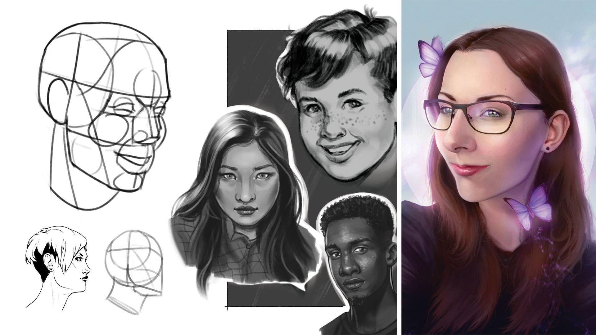 Porträt Zeichenkurs